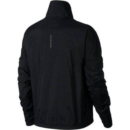 Womens Swoosh Run Pullover Running Jacket - Black