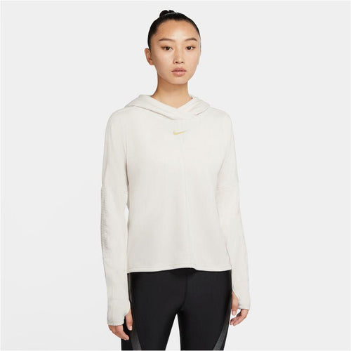 Womens Icon Clash Running Long Sleeve - Off White