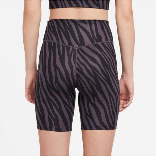 Womens One 7'' Printed shorts - Dark Raisin