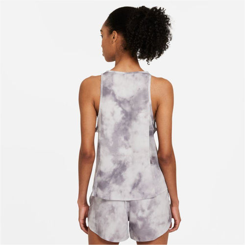 Womens Icon Clash City Sleek Running Tank - Smoke Grey/Iron Grey