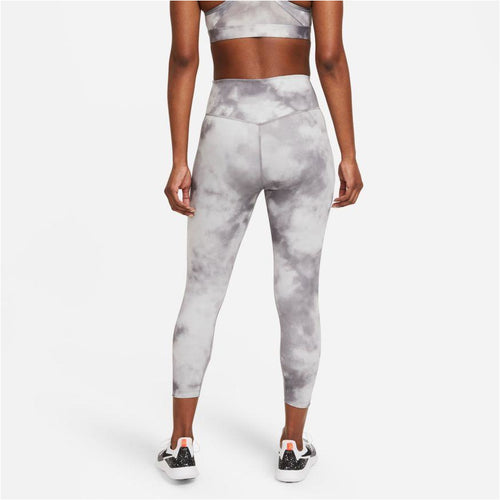 Womens One Icon Clash Crop Leggings - Smoke Grey/White