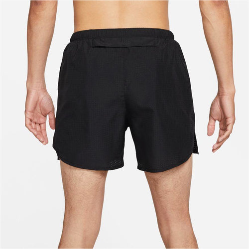 Mens Challenger Run Division Brief-Lined Running Shorts - Black