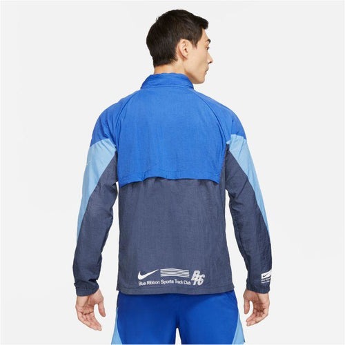 Mens Windrunner BRS Running Jacket - Game Royal/Thunder Blue