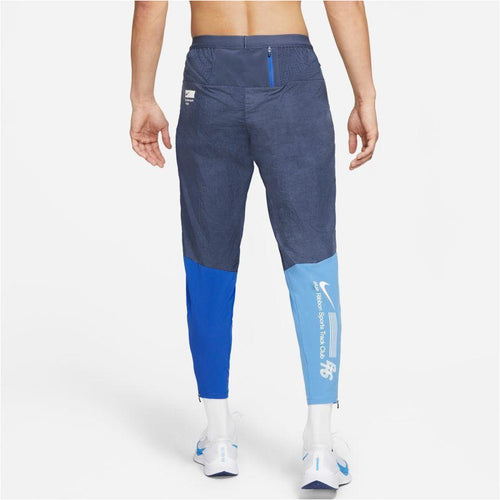 Mens Phenom Elite BRS Woven Running Pants - Thunder Blue/White