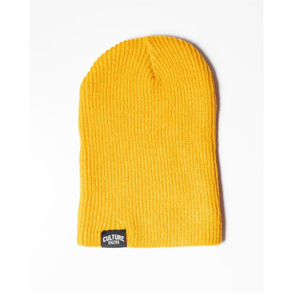 Unisex CA Ribbed Beanie - Golden Yellow