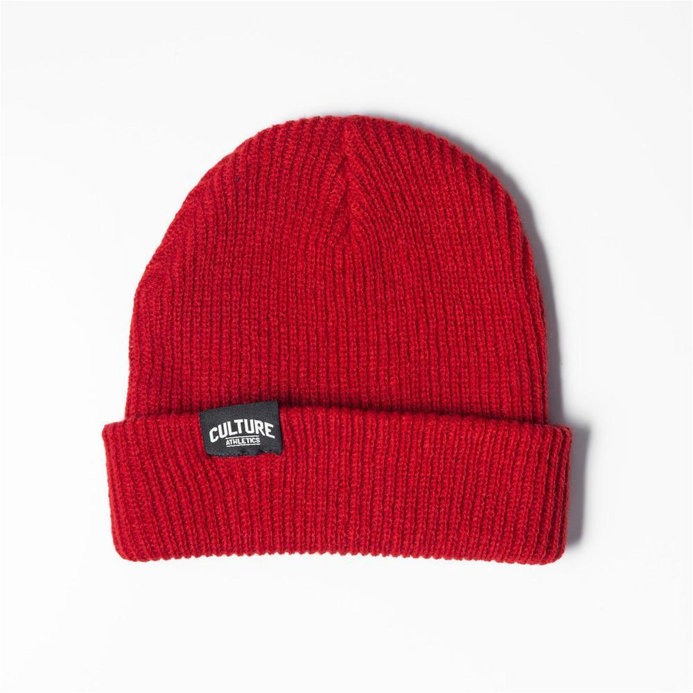Unisex CA Ribbed Beanie - Red