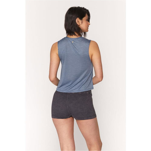 Womens Active Crop Tank - Ocean
