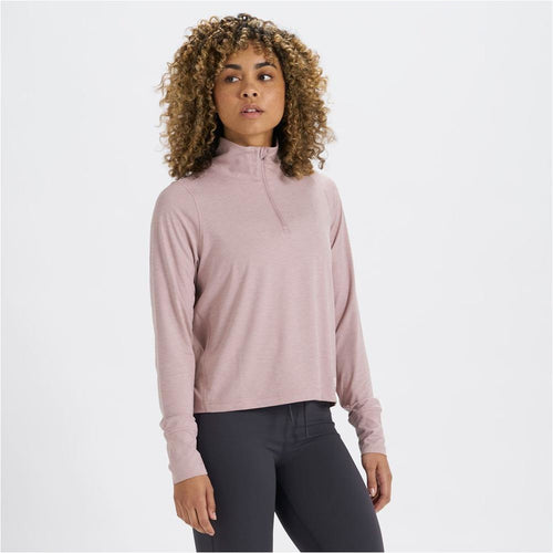 Womens Crescent 1/2 Zip - Dusk Heather