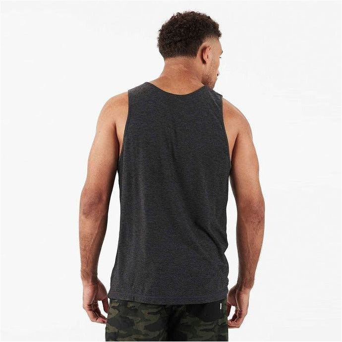 Mens Strato Tech Tank - Charcoal Heather