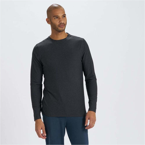 Mens Strato Tech Tee Long Sleeve - Charcoal Heather
