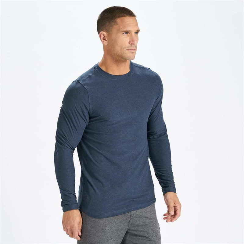Mens Strato Tech Tee Long Sleeve - Navy Heather