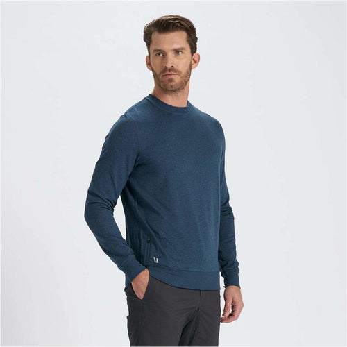 Mens Ponto Performance Crew - Indigo Heather