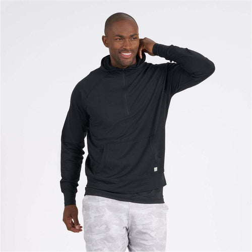 Mens Ponto Performance Half Zip Hoodie - Black