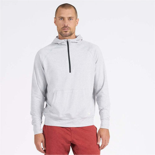 Mens Ponto Performance Half Zip Hoodie - Platinum Heather