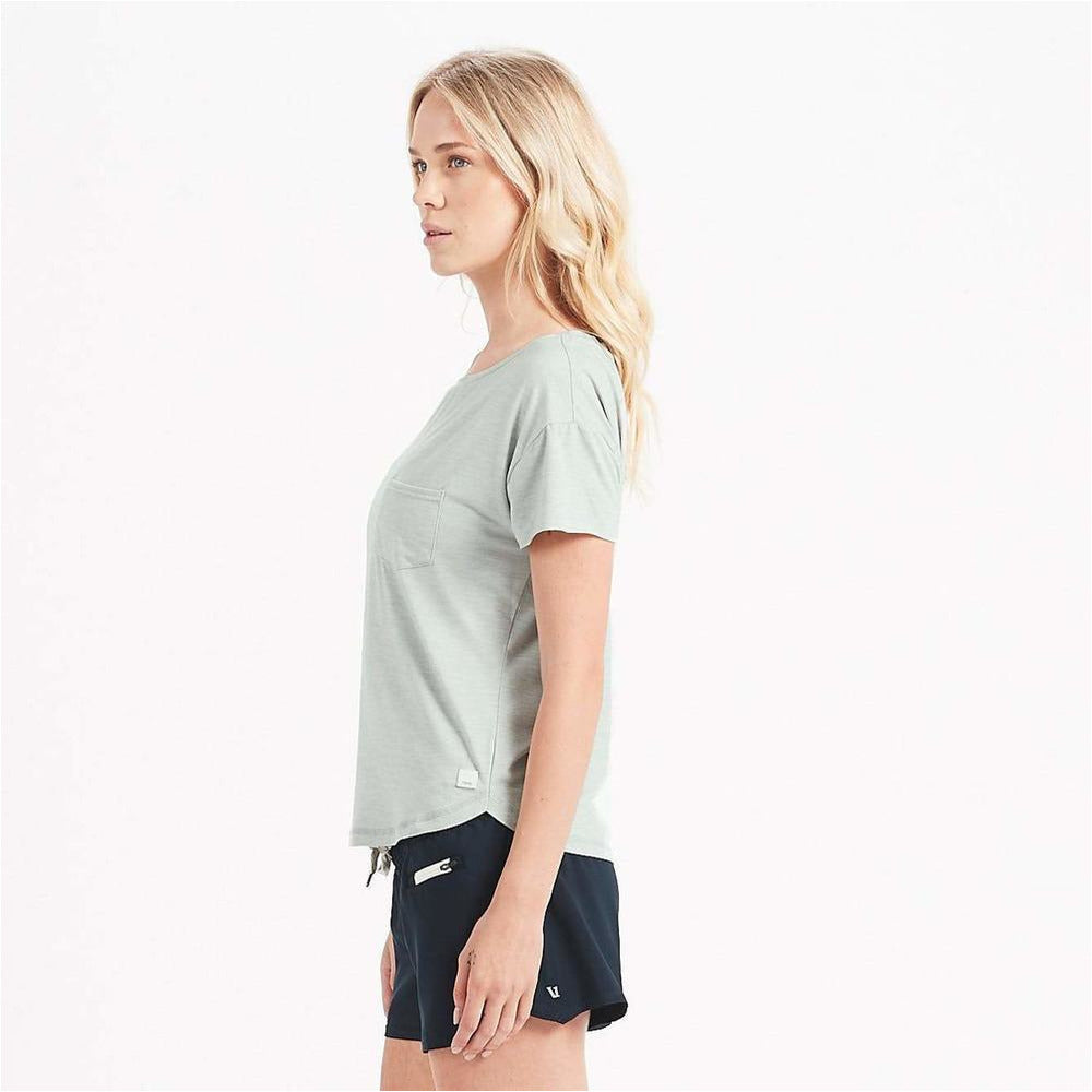 Womens Lux Performance Tee - Sage Heather