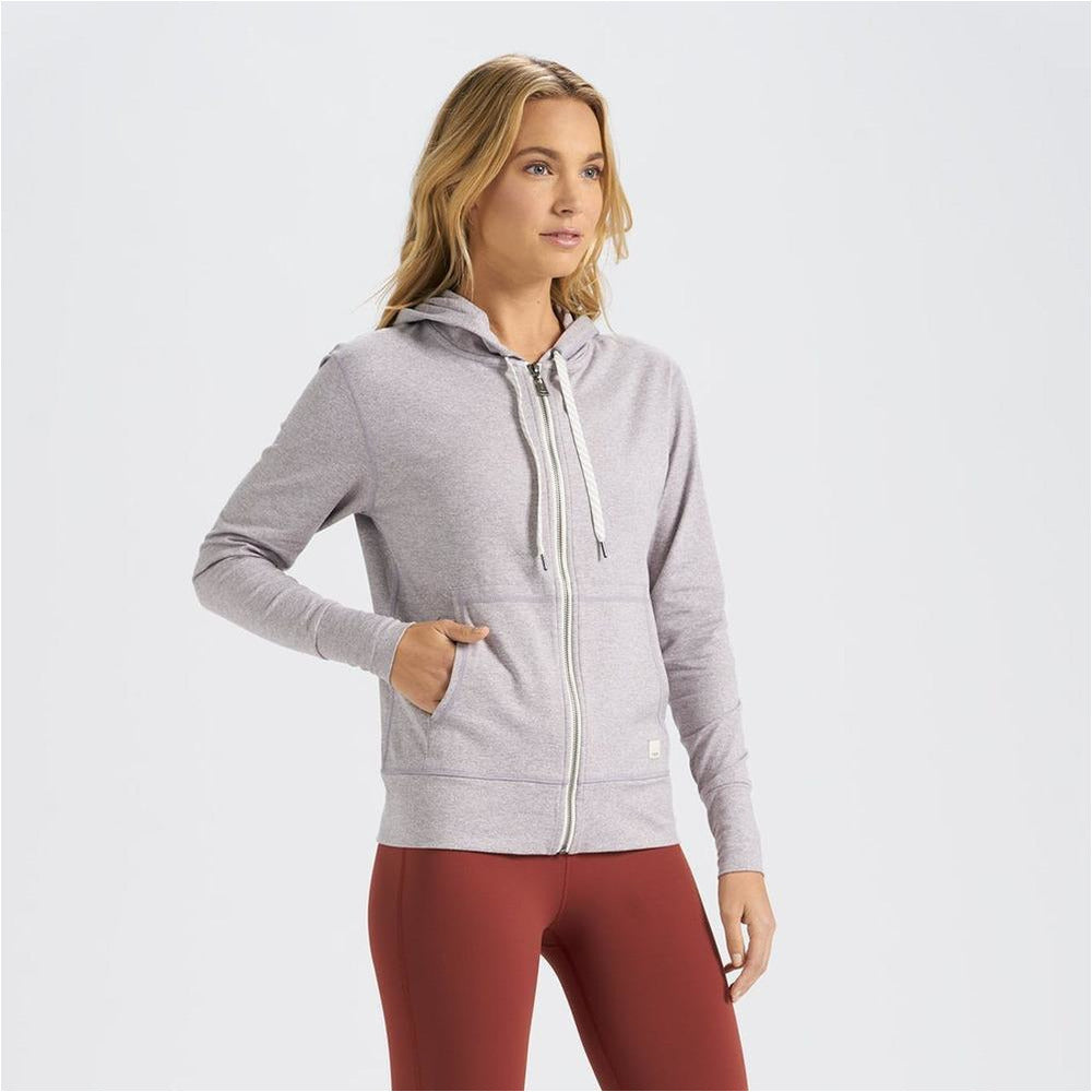 Womens Halo Performance Hoodie - Clay Heather