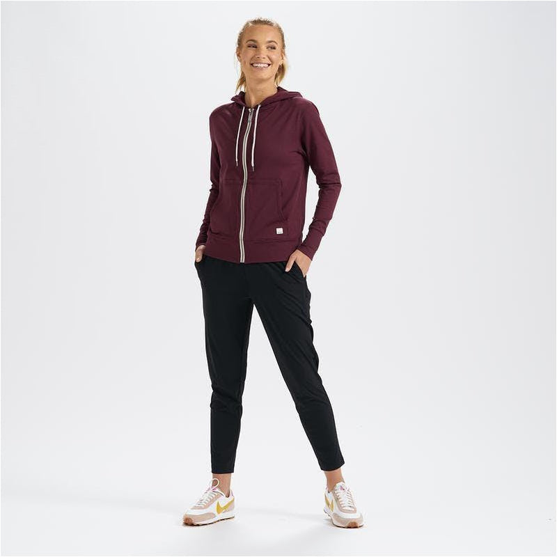 Womens Performance Hoodie - Cerise Heather