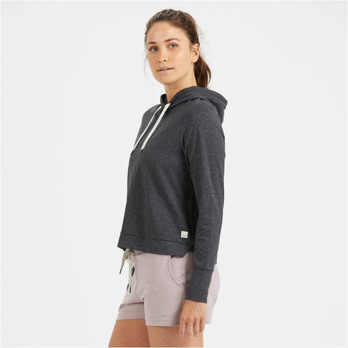 Womens Halo Essential Hoodie - Charcoal Heather