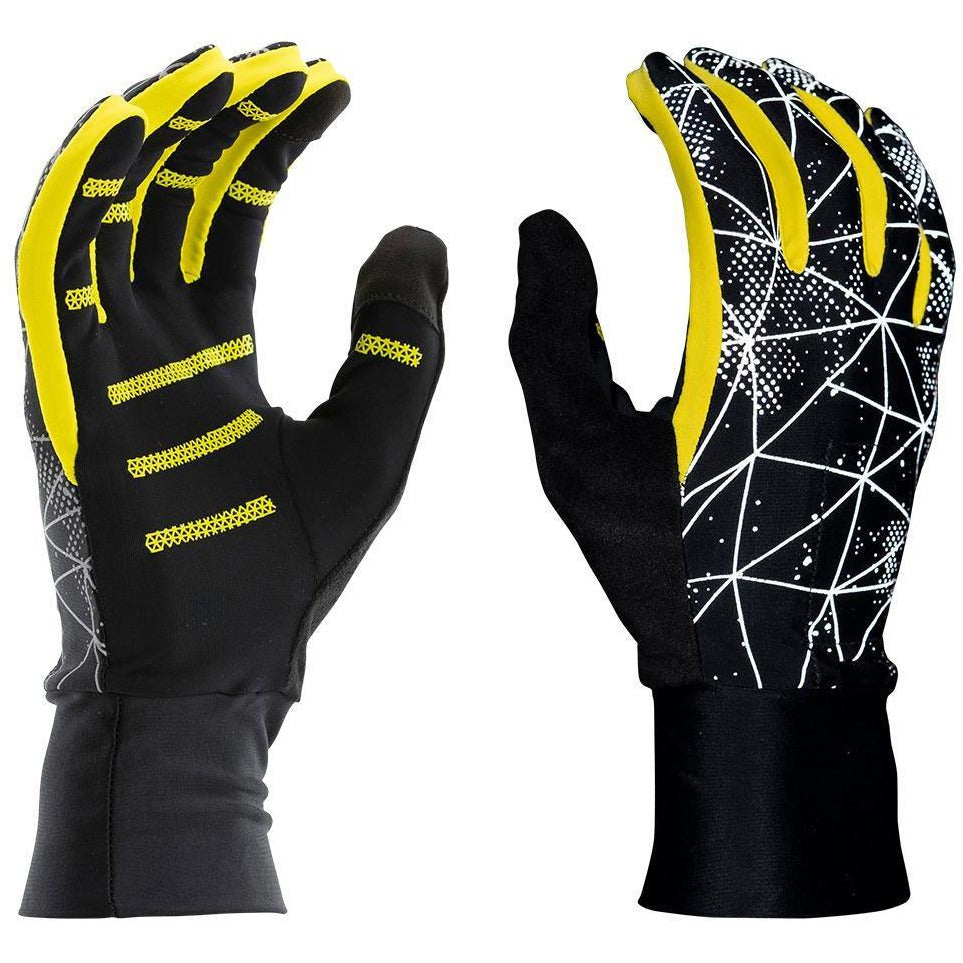 MEN'S REFLECTIVE GLOVES - BLACK/YELLOW