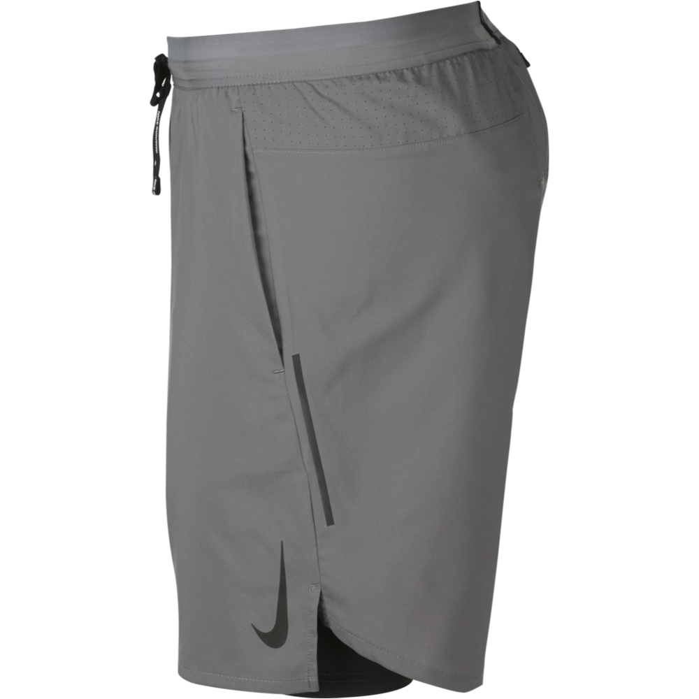 "Mens Flex Stride 7"" 2in1 Shorts - Gunsmoke"