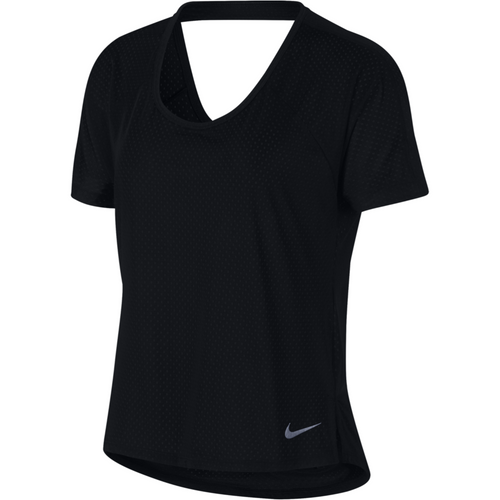 Womens Breathe Miler Short Sleeve Top - Black