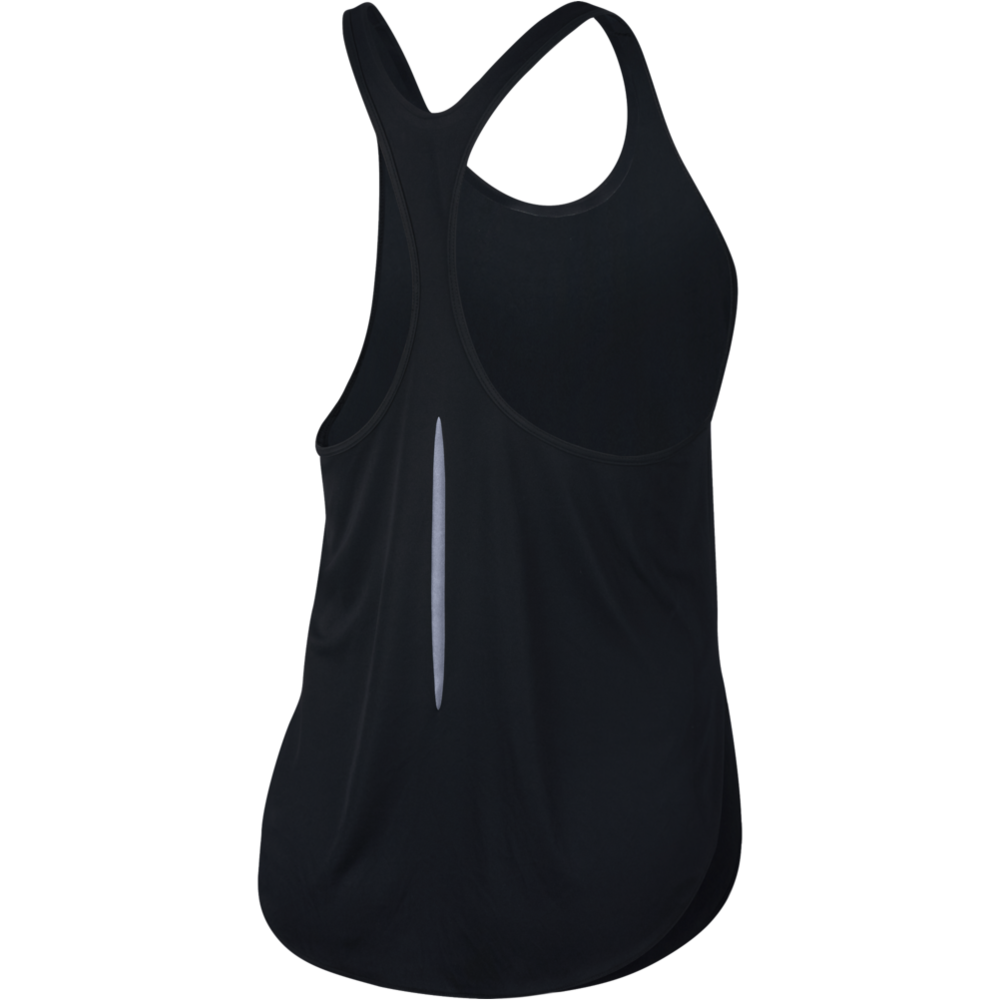 Womens City Sleek Sleeveless Top - Black/Silver