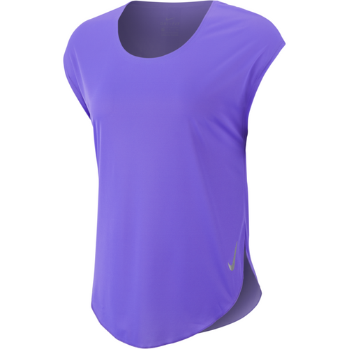 Womens City Sleek Short Sleeve Top - Purple