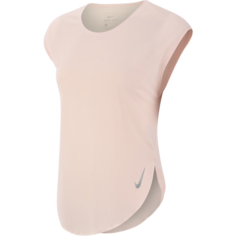 Womens City Sleek Short Sleeve Top - Echo Pink