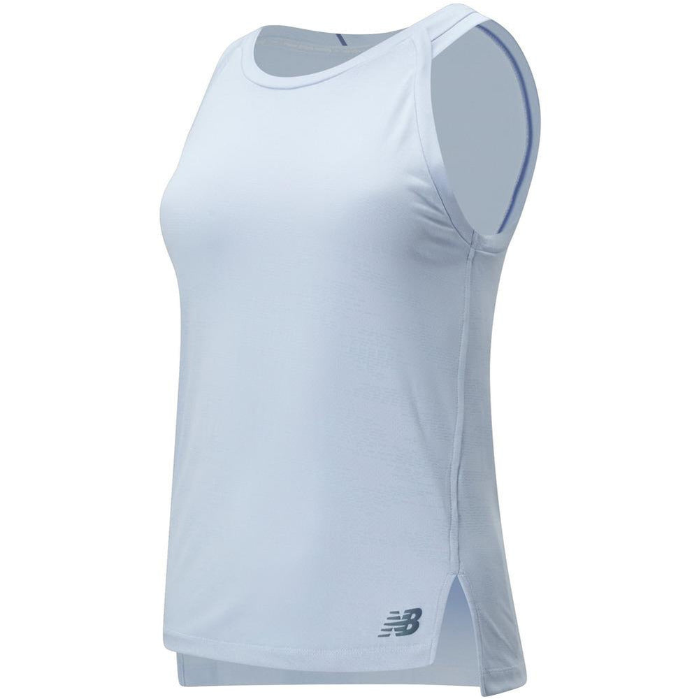 Womens Q Speed Jacquard Tank - Moondust Heather