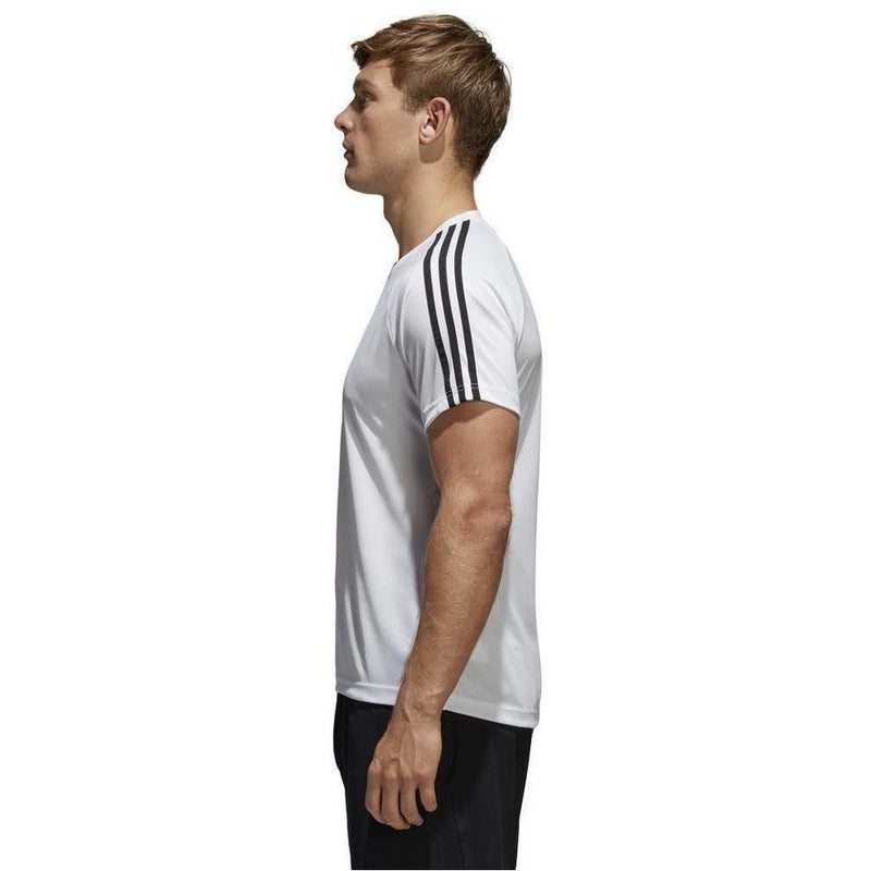Mens Design to Move Tee 3 Stripes - WHITE