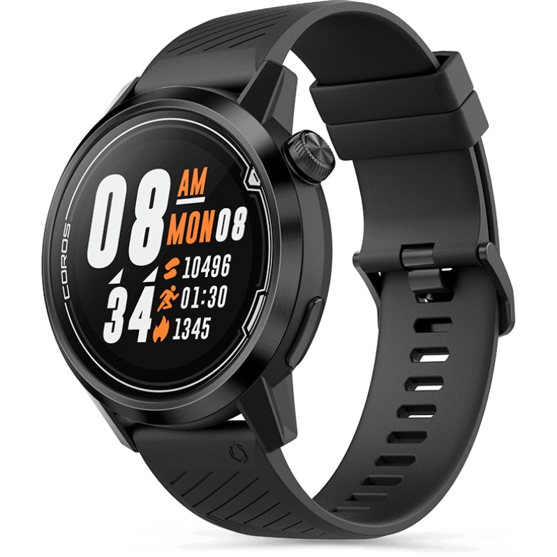 APEX 46mm Premium Multi-sport Watch - Black/Black