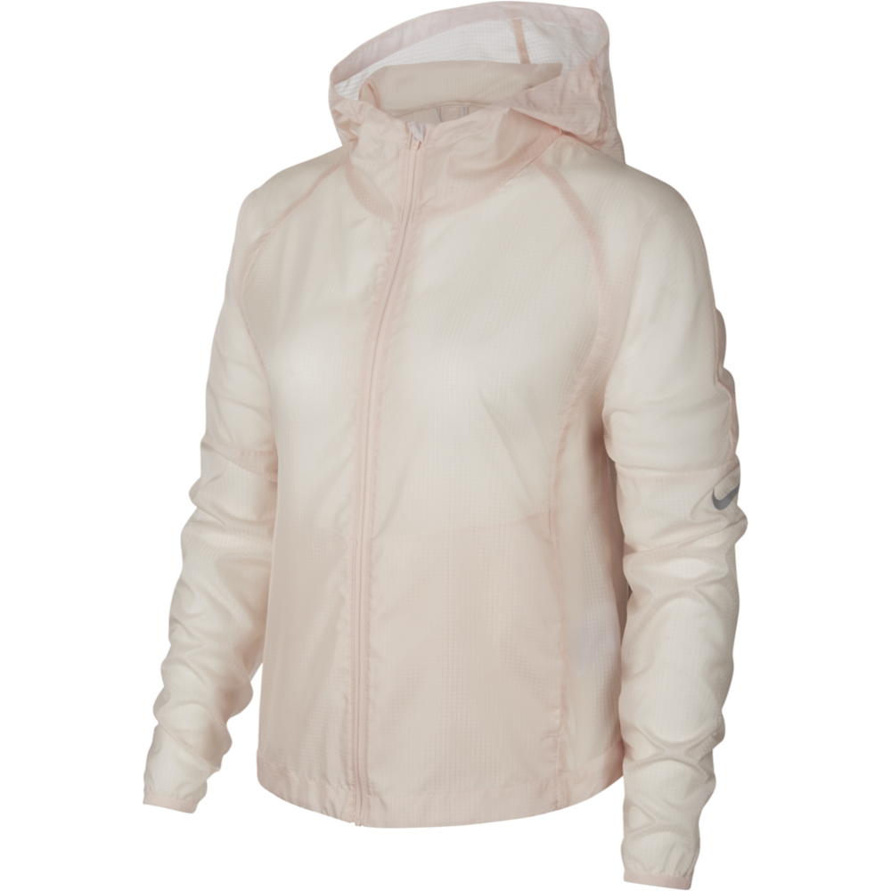 Womens Hooded Running Jacket - Echo Pink