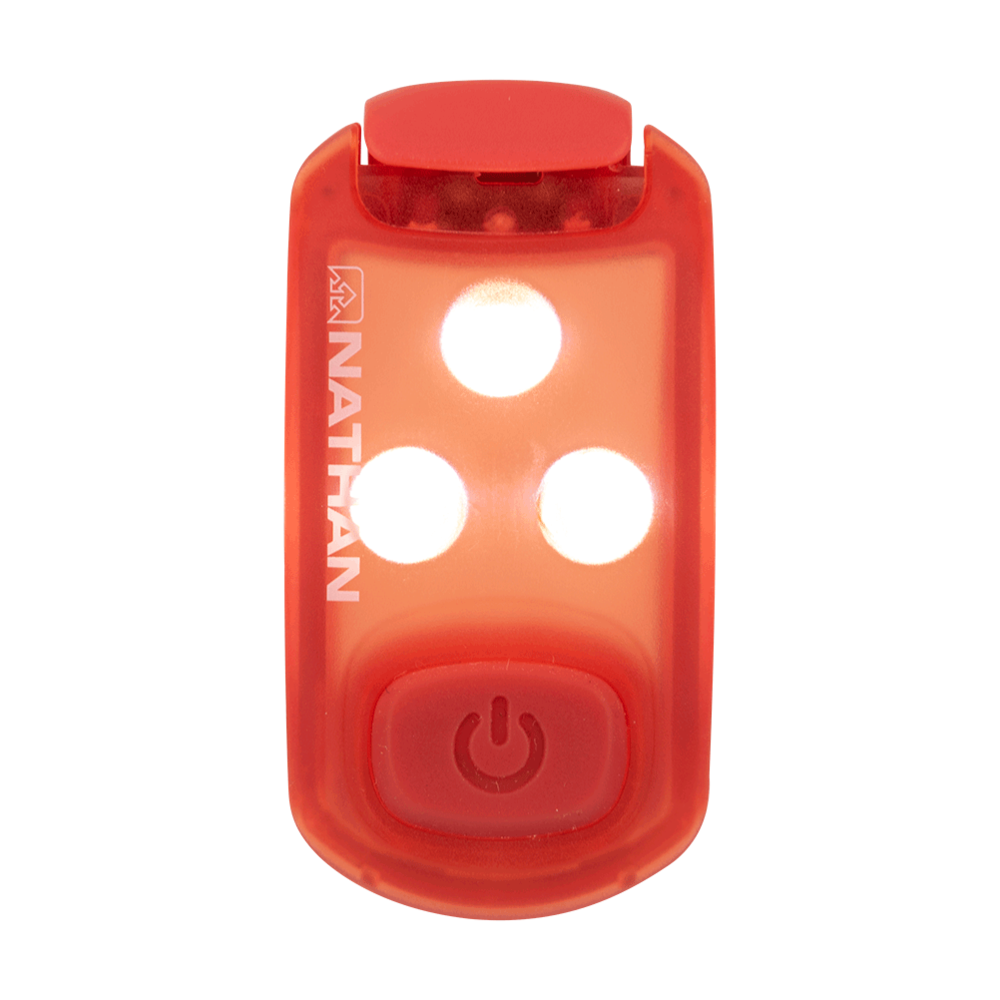 STROBE LIGHT LED SAFETY LIGHT CLIP - VIBRANT ORANGE/TANGERINE