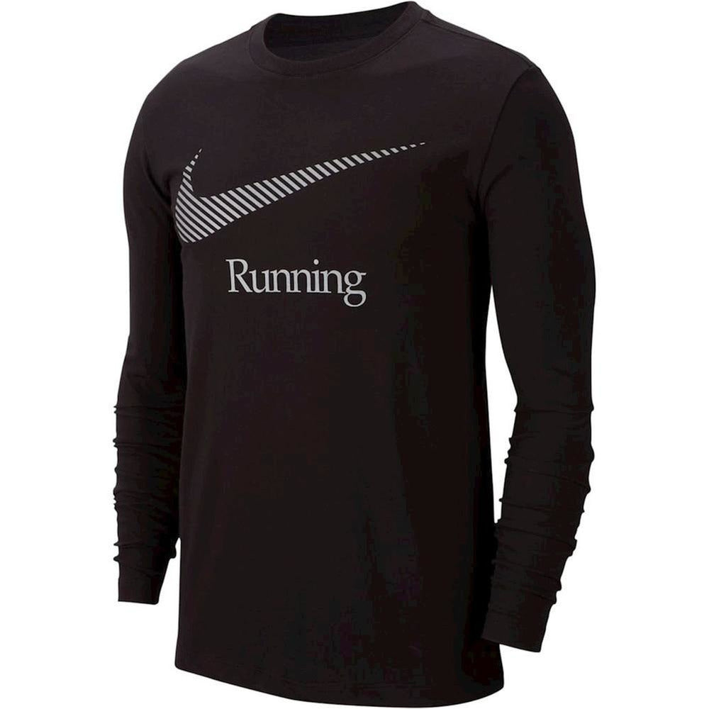Mens Dri-Fit Graphic Long Sleeve - Black