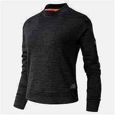 Womens Heat Grid Long Sleeve - Heather Charcoal