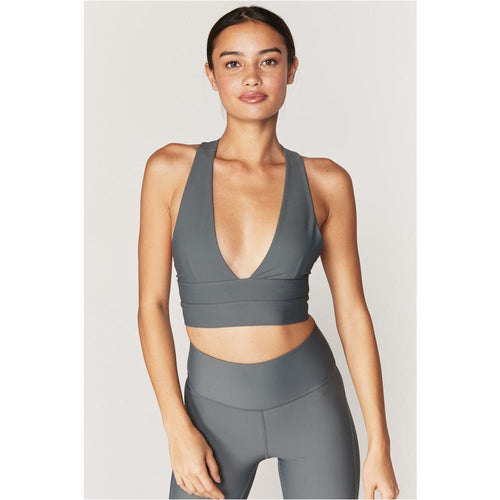 Good Vibes Sports Bra - DUSTY OLIVE