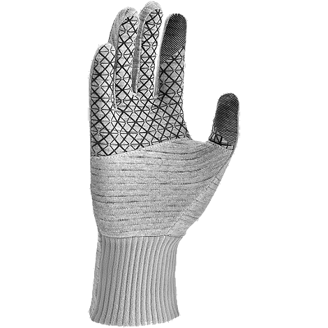 Women's Heathered Sphere Running Gloves - GUNSMOKE HEATHER/GRY/SLV