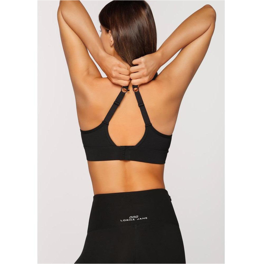 Womens Compress & Compact Sports Bra - Black