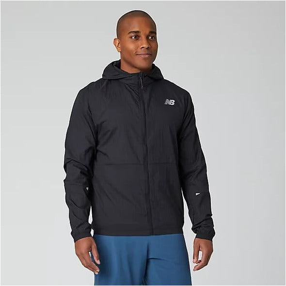 Mens Impact Black Running Jacket - Black