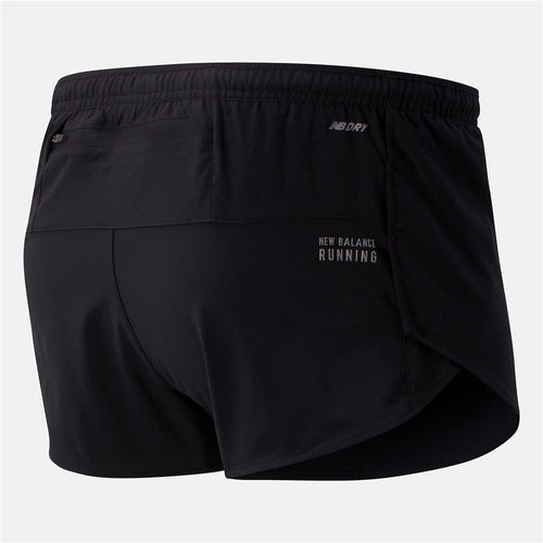 Mens Impact Run 3 Inch Split Short - Black