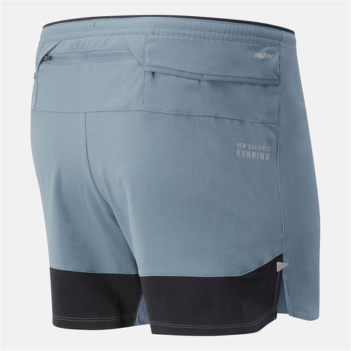 Mens Impact Run 5'' Short - Ocean Grey