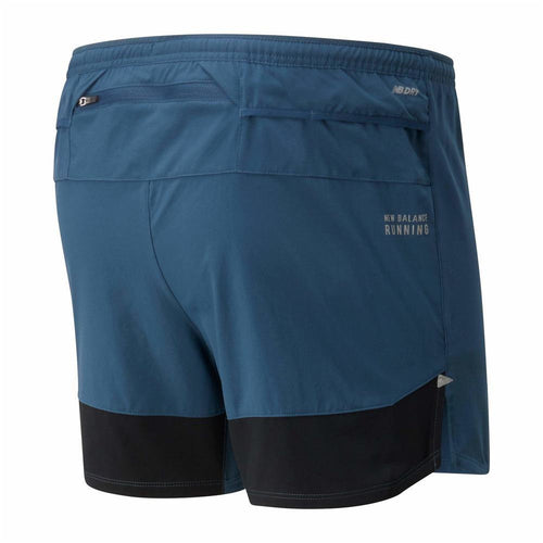 "Mens Impact Run 5"" Short - Stone Blue"