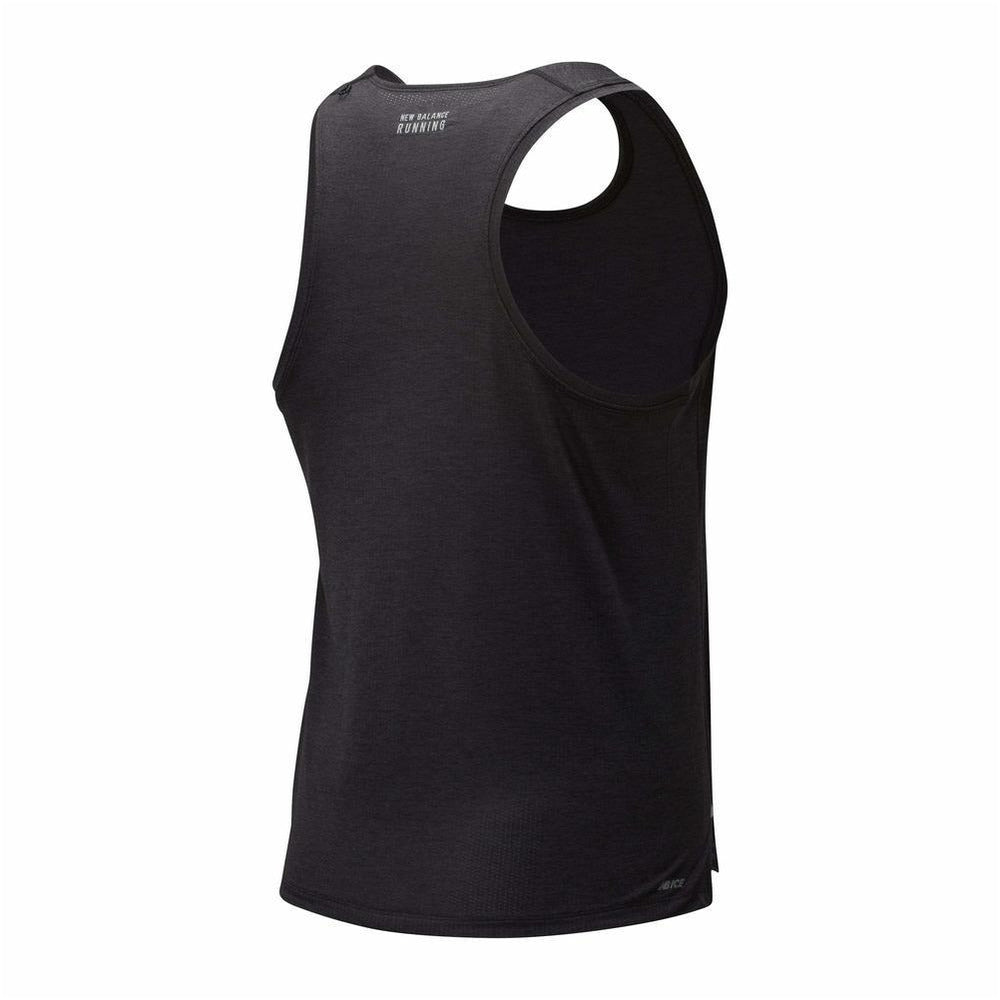 Mens Impact Run Singlet - Black Heather