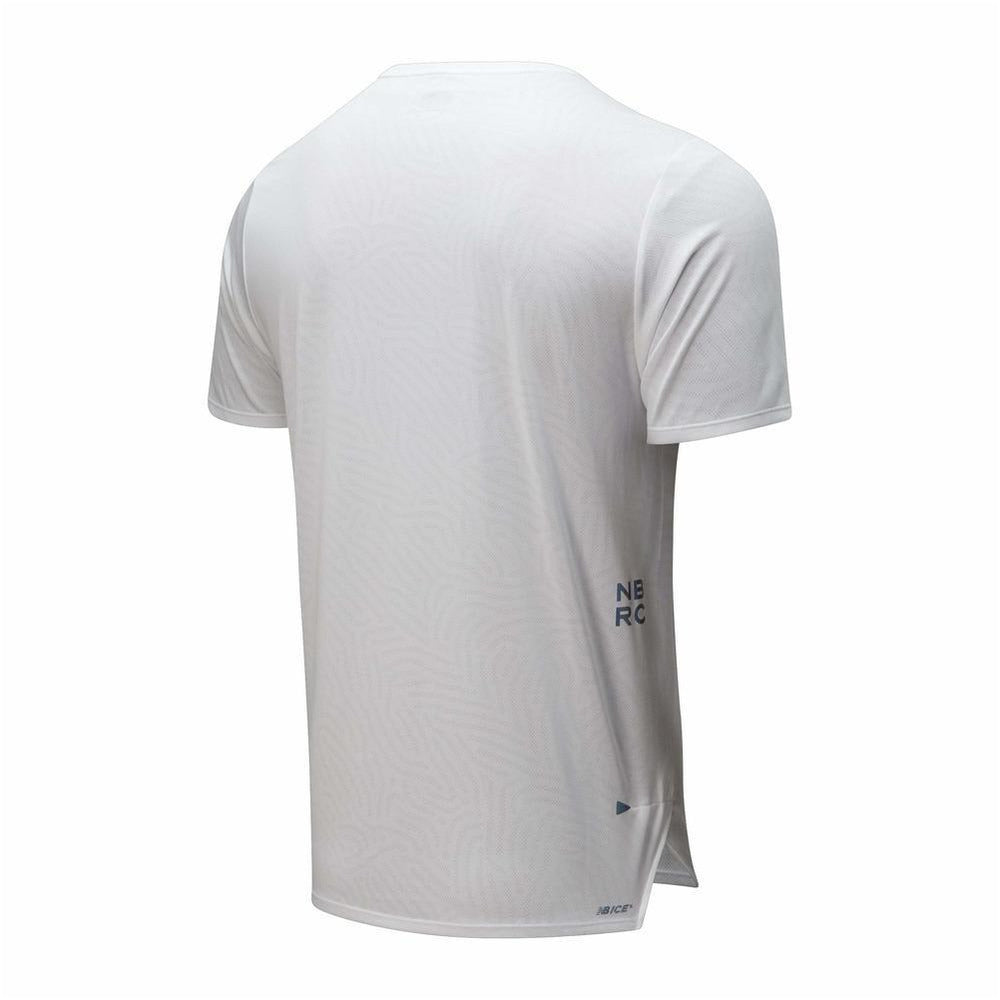 Mens Q Speed Jacquard Short Sleeve - White