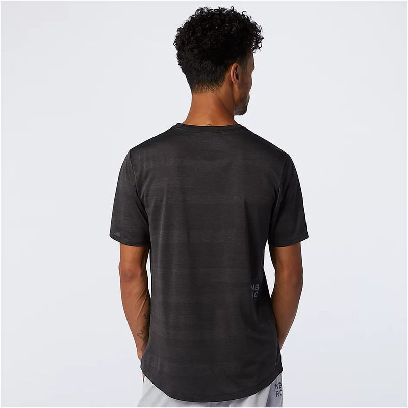 Mens Q Speed Fuel Short Sleeve - Black Heather