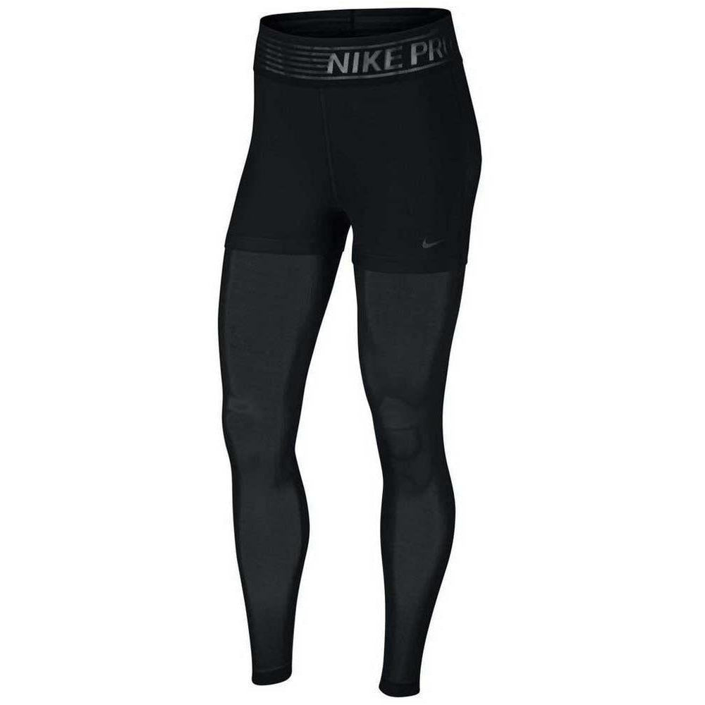 Womens Pro Deluxe Mesh Tights - Black