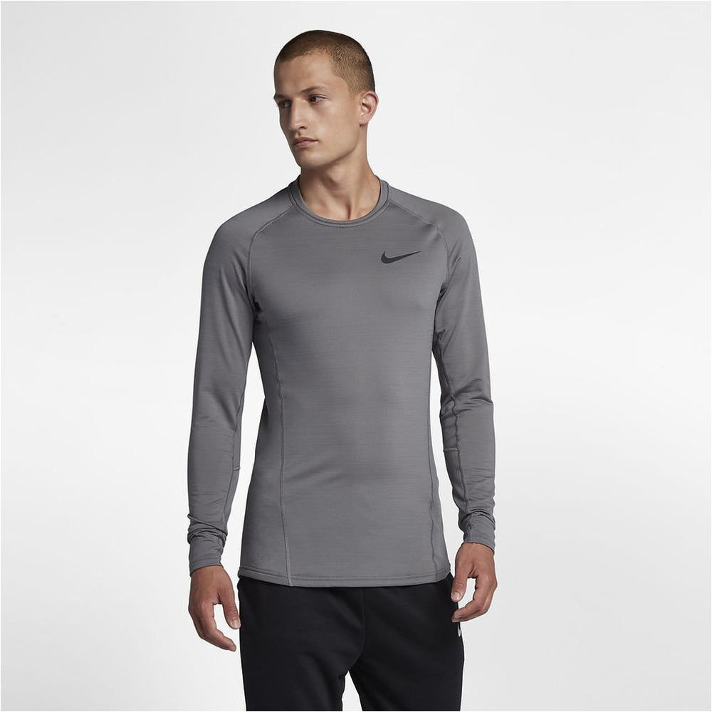 Mens Pro Warm Long Sleeve Top - Grey