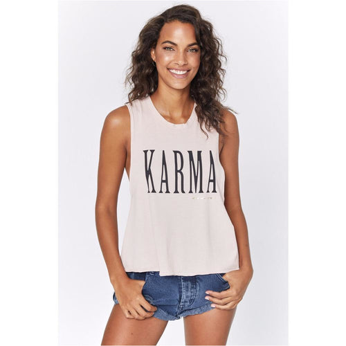 Karma Surplice Back Swing Tank