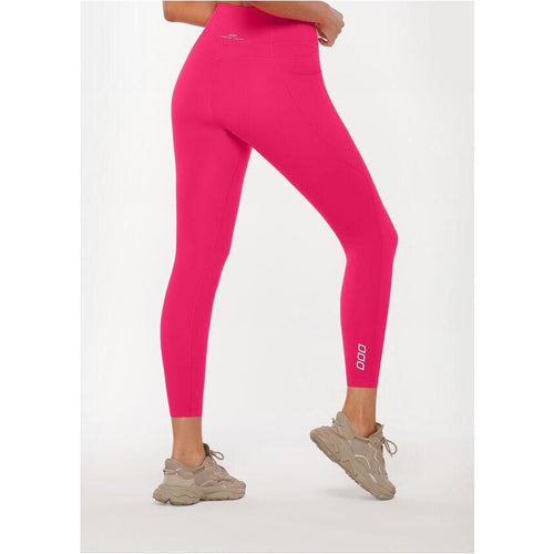 Womens Stomach Support Ankle Biter Leggings - Neon Raspberry