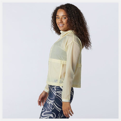 Womens Impact Run Light Pack Jacket - Clear Yellow